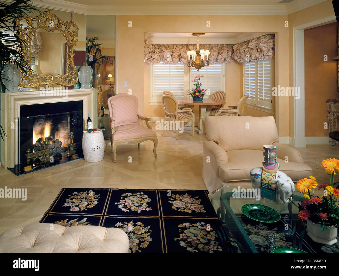 Beverly Hills Hotel Bungalow California Architectural Interior Design Resort Luxury Home Fireplace Stylish