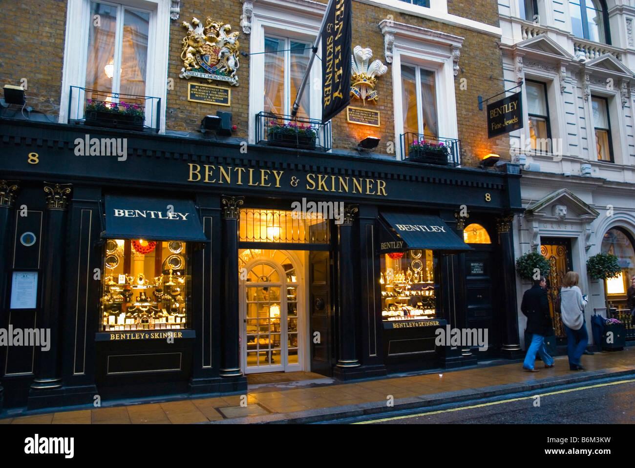 Bentley and skinner jewellery shop in old bond street in for Bentley and skinner jewelry