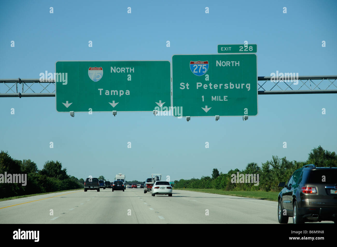 i 75 interstate highway heading north towards tampa florida america stock photo royalty free. Black Bedroom Furniture Sets. Home Design Ideas