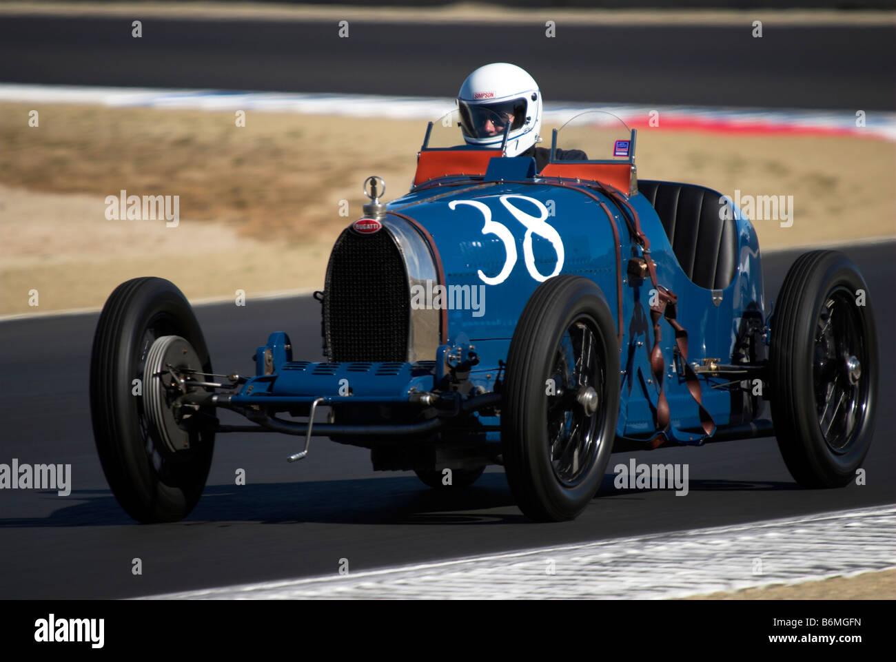 A 1925 Bugatti T-35A at the Monterey Historic Auto Races, Monterey ...