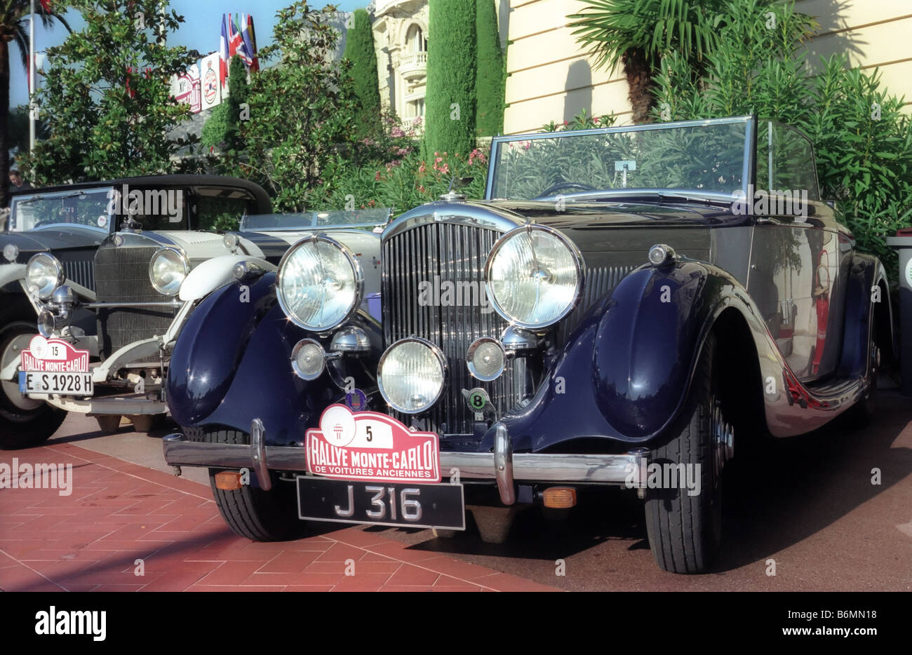 Classic cars in Monte Carlo rally Stock Photo, Royalty Free Image ...