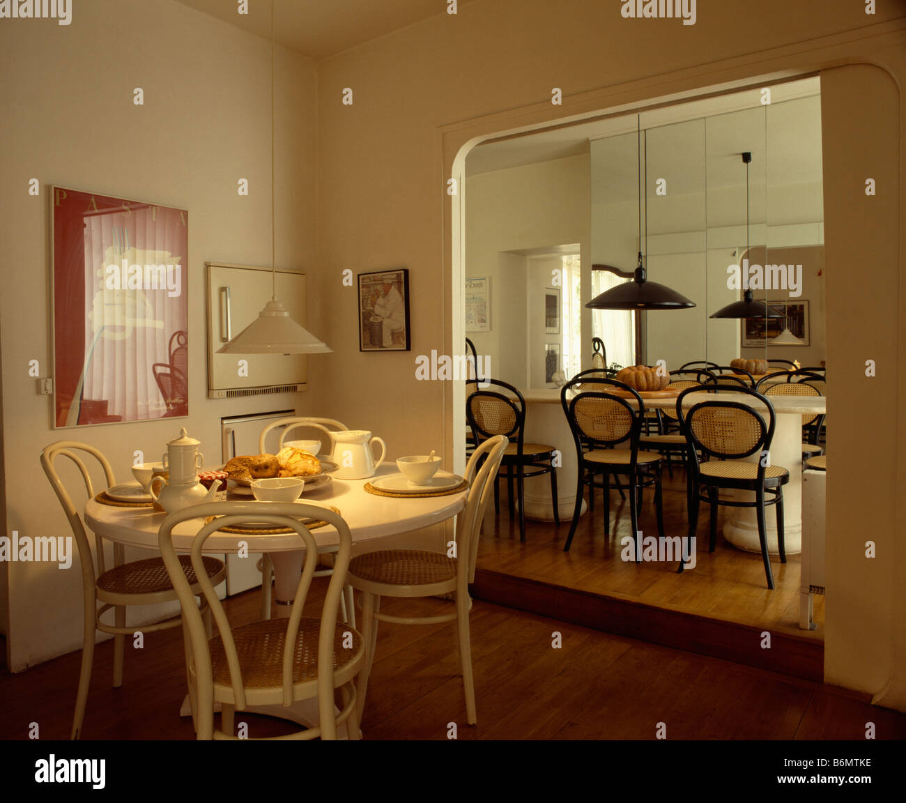 Bentwood Dining Table White Oval Table And Bentwood Chairs In Dining Room With Wide