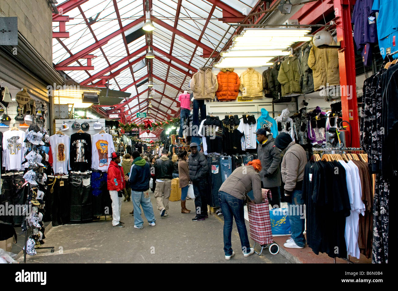 Thriving business at the flea market of st ouen at porte de stock photo royalty free image - Marche au puce paris vetement ...