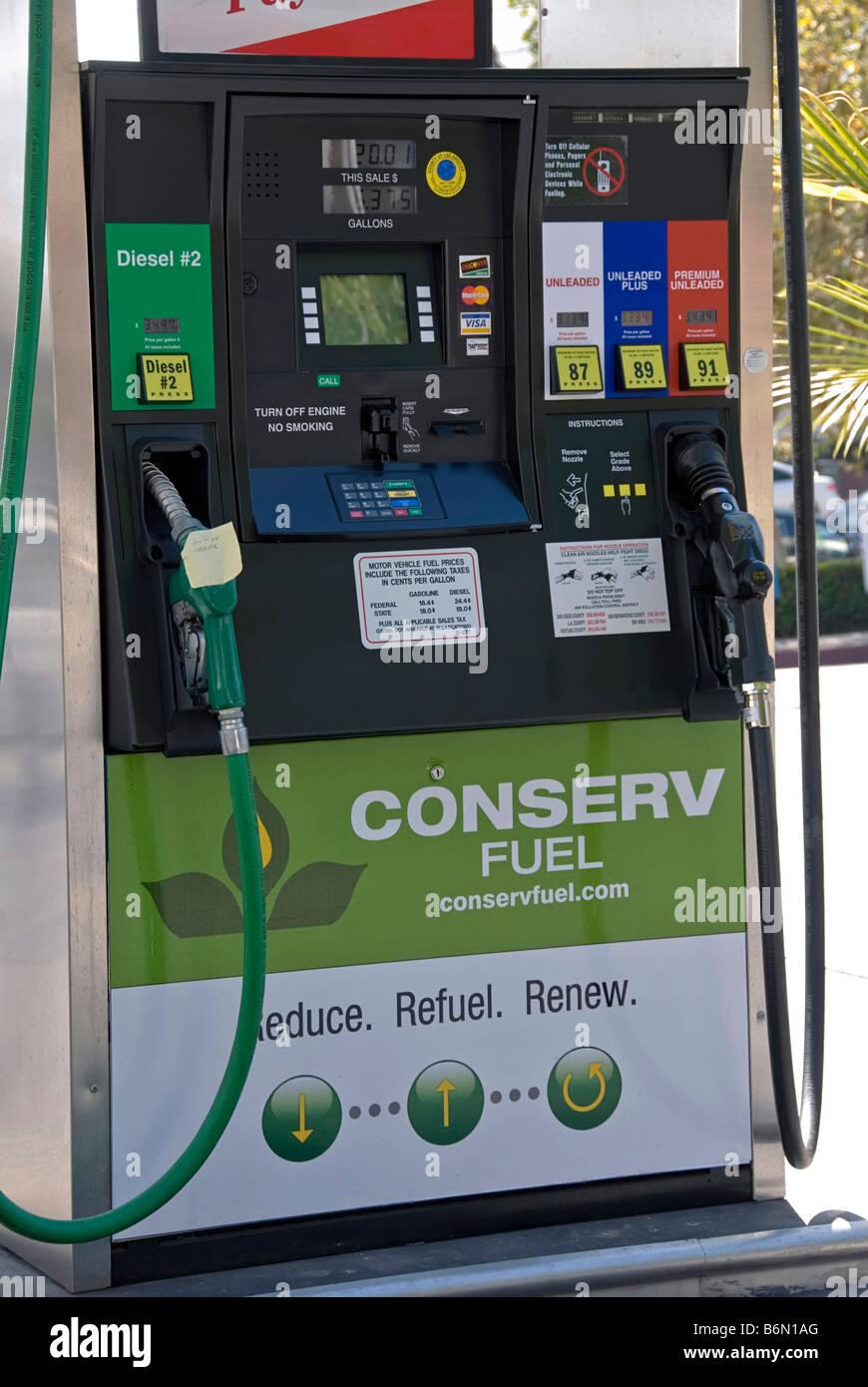 Diesel Gas Near Me >> Bio diesel fuel pump Conserv Gas Station Biodiesel Ethanol Los Stock Photo, Royalty Free Image ...