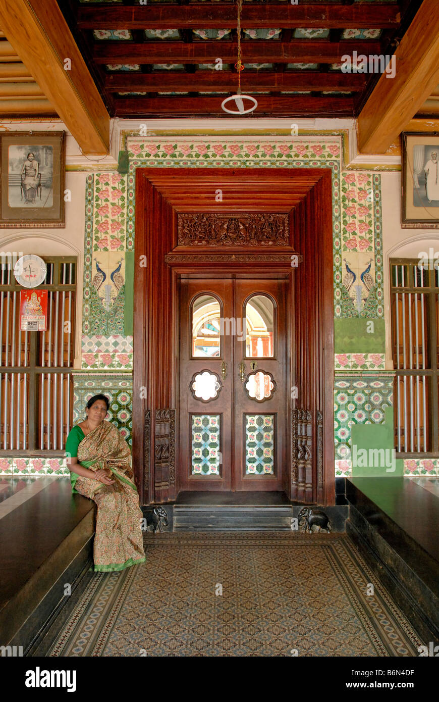NATTUKOTTAI CHETTIAR HOUSE IN CHETTINAD, TAMIL NADU Stock Photo ...