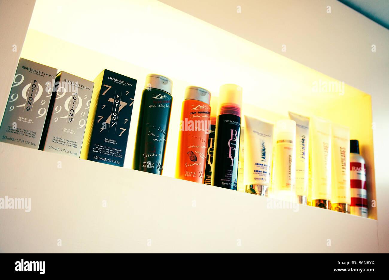 Hair Care Products Salon Stock Photos & Hair Care Products Salon ...
