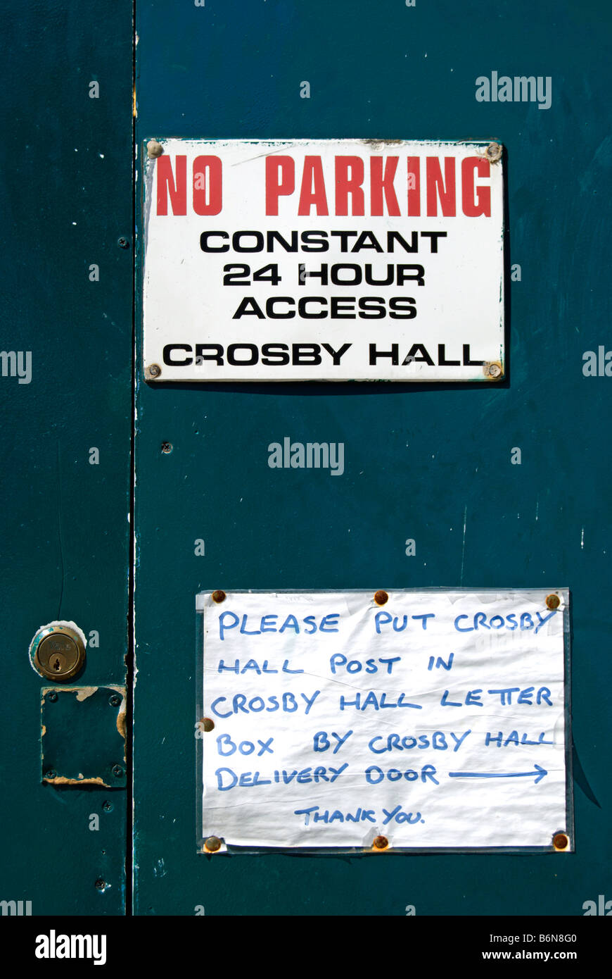 notices on a door of crosby hall in cheyne walk chelsea london england  sc 1 st  Alamy & notices on a door of crosby hall in cheyne walk chelsea london ...