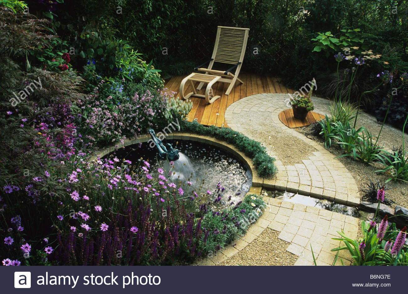 Feng Shui Garden London Design Pamela Woods Cool Colour Area Circular