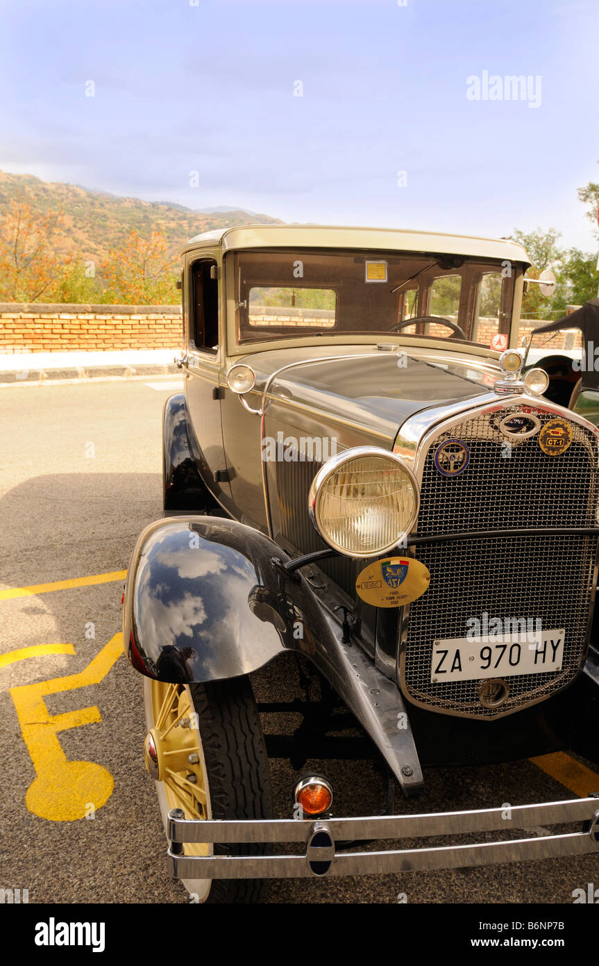 This is a detail from a 1930 Ford A Sedan, a vintage car in Savoca ...