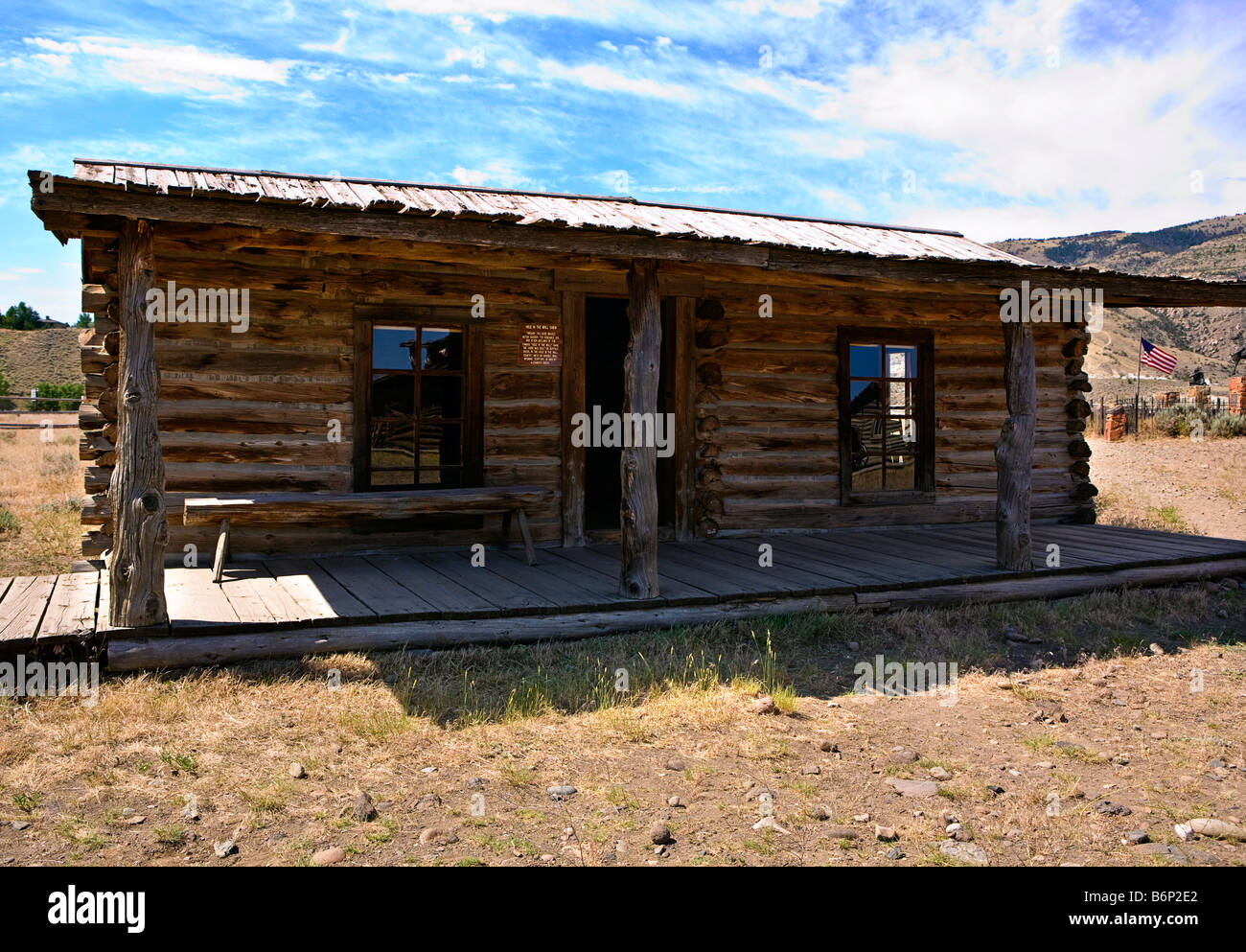 Image Of The Hole In The Wall Cabin In Old Trail Town