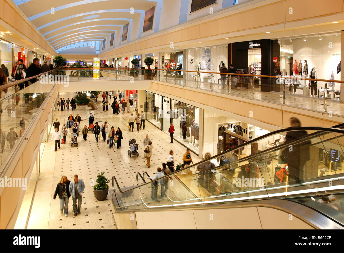 escalator in shopping centre nova eventis in g nthersdorf stock photo royalty free image. Black Bedroom Furniture Sets. Home Design Ideas
