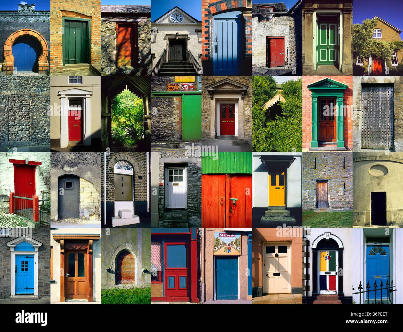 Multiple 32 x Image horizontal montage of British Doors and Doorways & Multiple 32 x Image horizontal montage of British Doors and ... pezcame.com