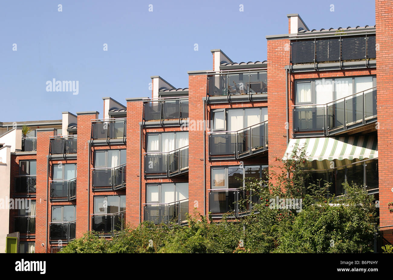 new residential apartments in bristol stock photo, royalty free