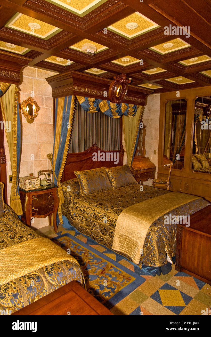Cinderella Castle Suite bedroom Magic Kingdom Walt Disney