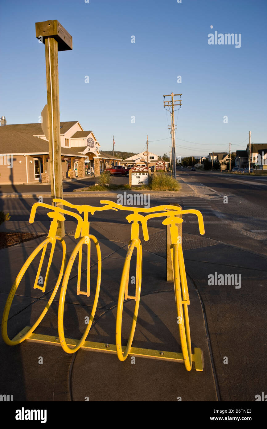 Bike Pacific City Or Stock Photo Yellow bike