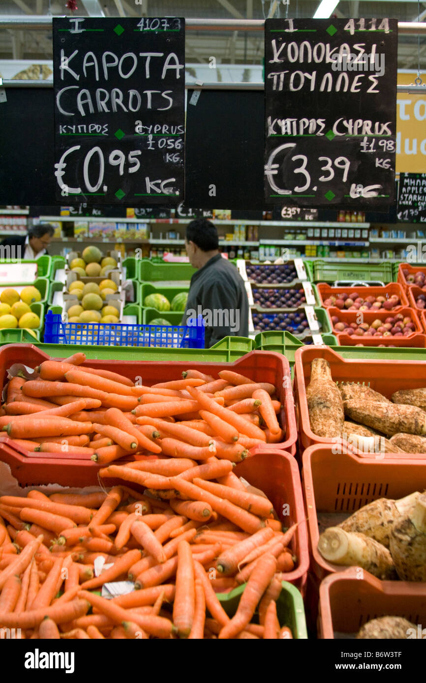 foreign supermarkets euro pricing of fruit and vegetables