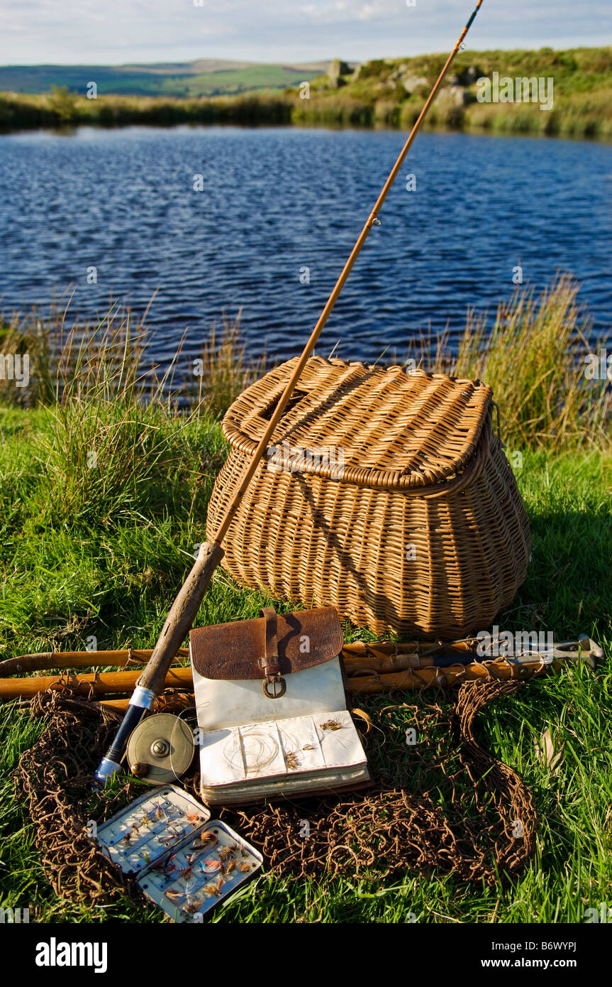 uk, wales, conwy. a split-cane fly rod and traditional fly-fishing, Fly Fishing Bait