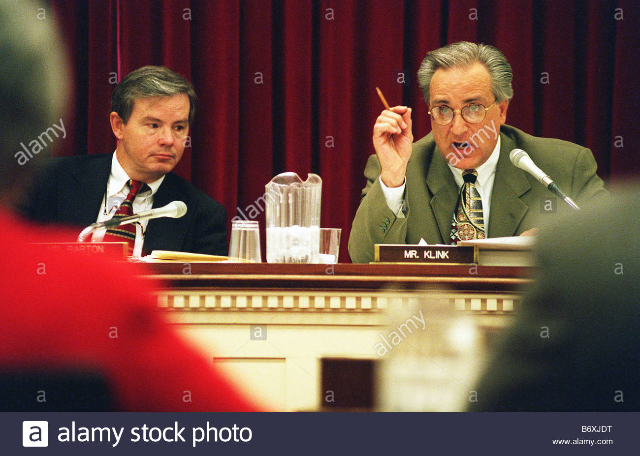 10 23 97 ENERGY DEPARTMENT HEARING House Commerce Oversight Subcommittee  Chairman Joe Barton R Texas And Ranking Member Ron Klink D Pa During  Questioning Of ...