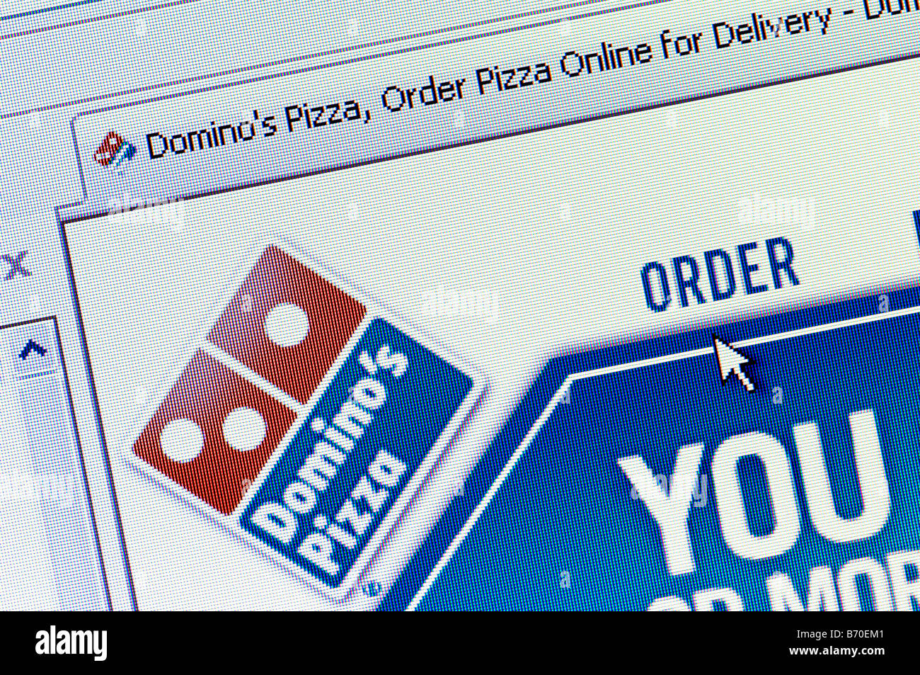 Dominos pizza online order - Macro Screenshot Of Domino S Pizza Website Editorial Use Only