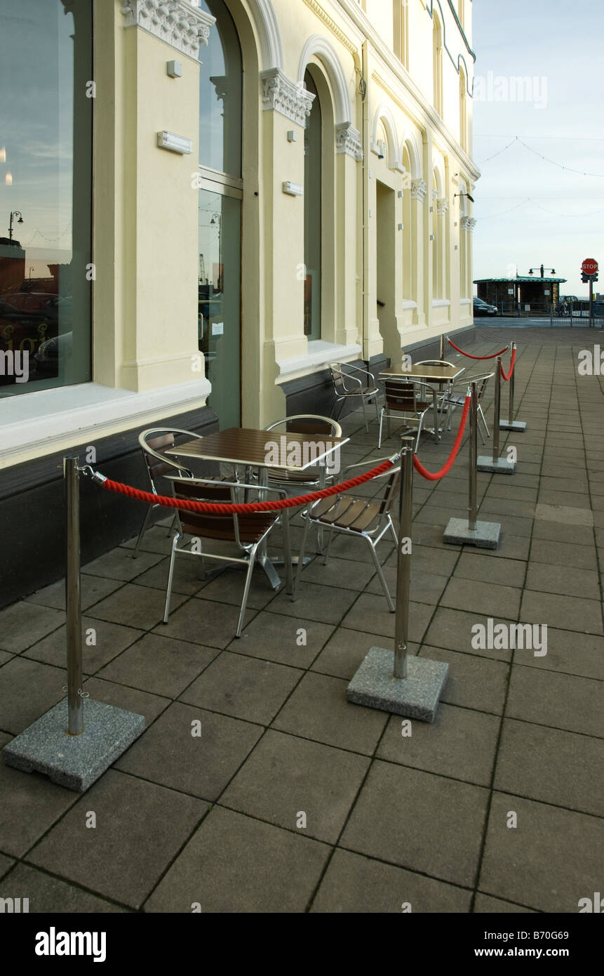Tables Outside A Coffee Shop Stock Photo Royalty Free