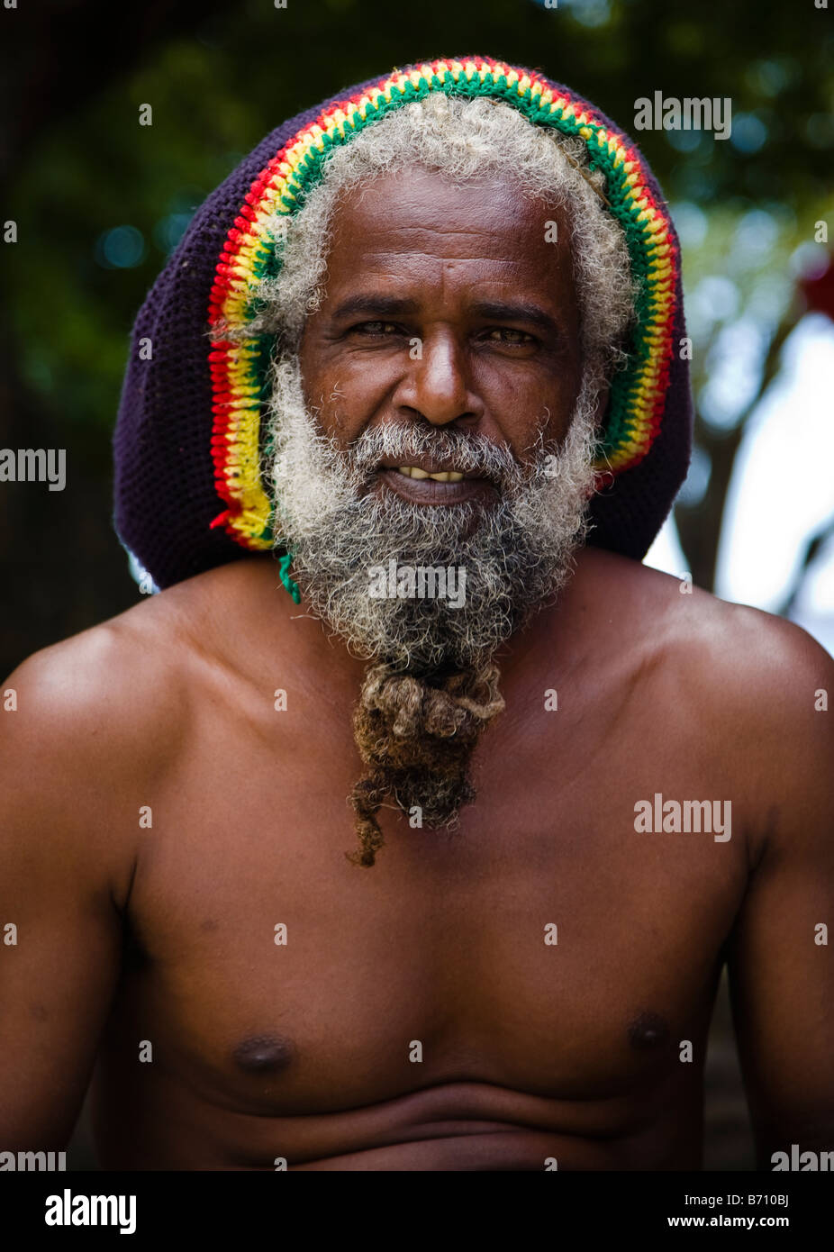 Man with rastafarian hat and hair style in Mauritius Stock ...