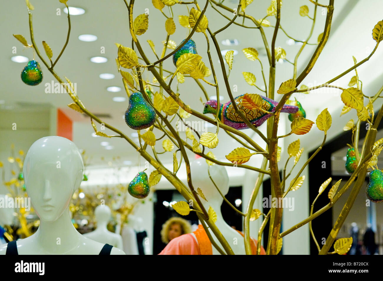 Gardens Shopping Mall or center Xmas decorations in store with a ...