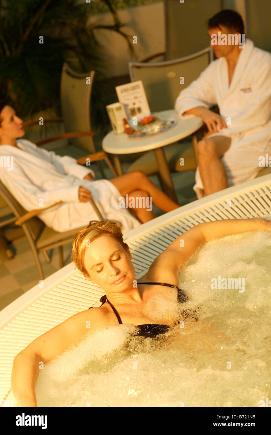 Relaxing Whirlpool spa Stock Photo, Royalty Free Image: 21558241 - Alamy