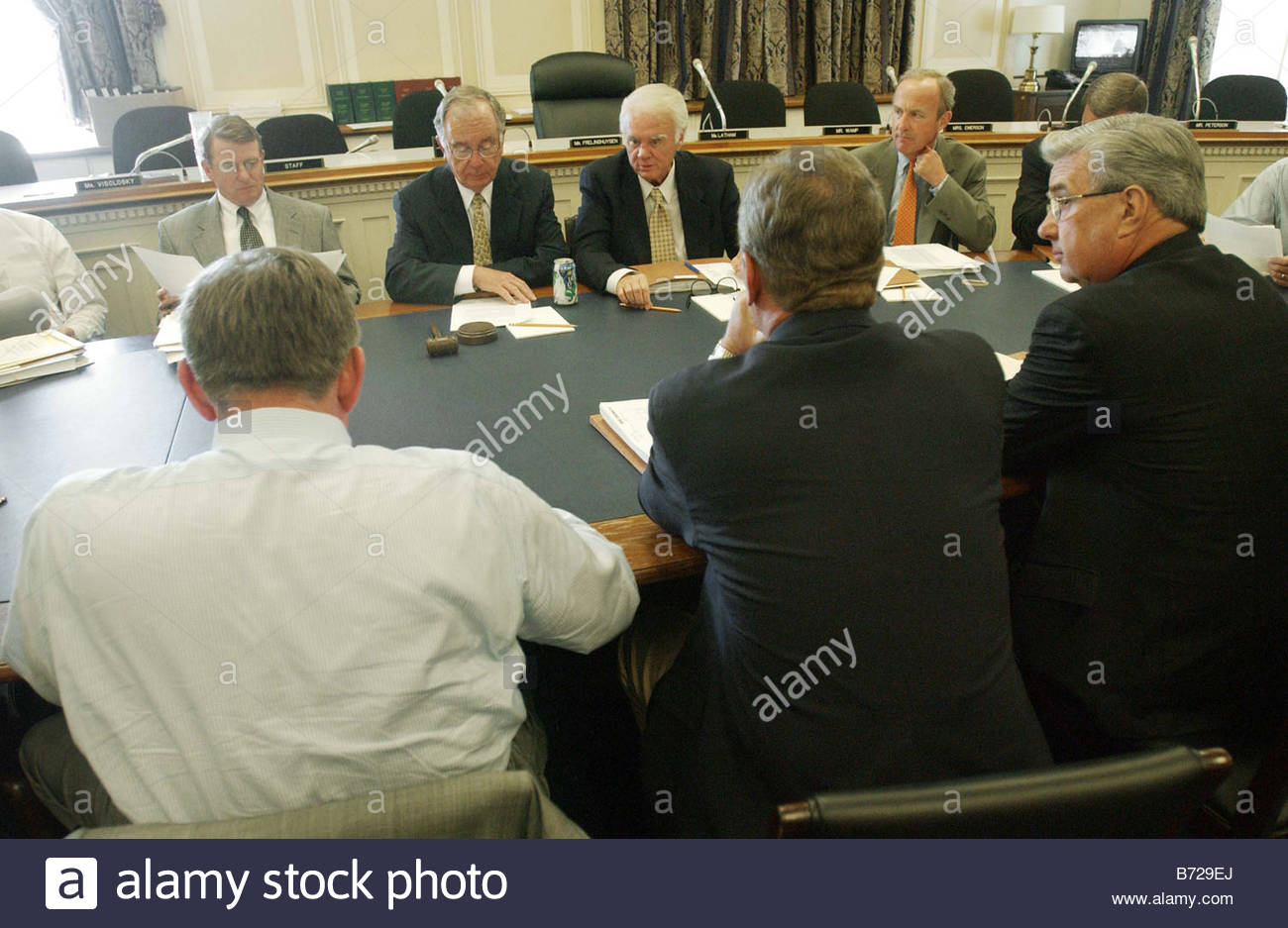 7 8 03 ENERGY AND WATER House Appropriations Energy And Water Subcommittee  Chairman David L Hobson R Ohio Facing Camera And Ranking Democrat Peter J  ...