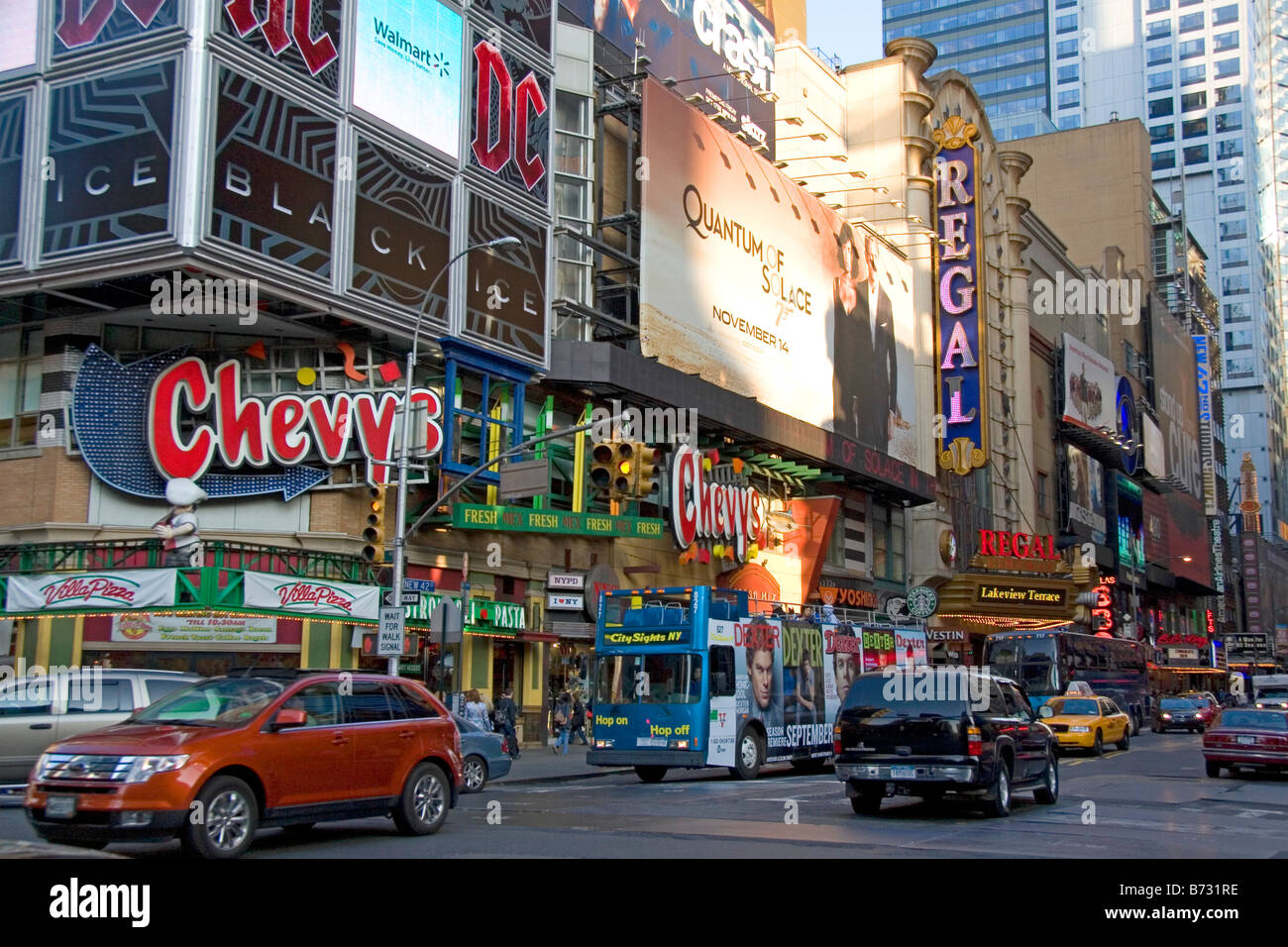 Theatre District on West 42nd Street in Manhattan New York ...