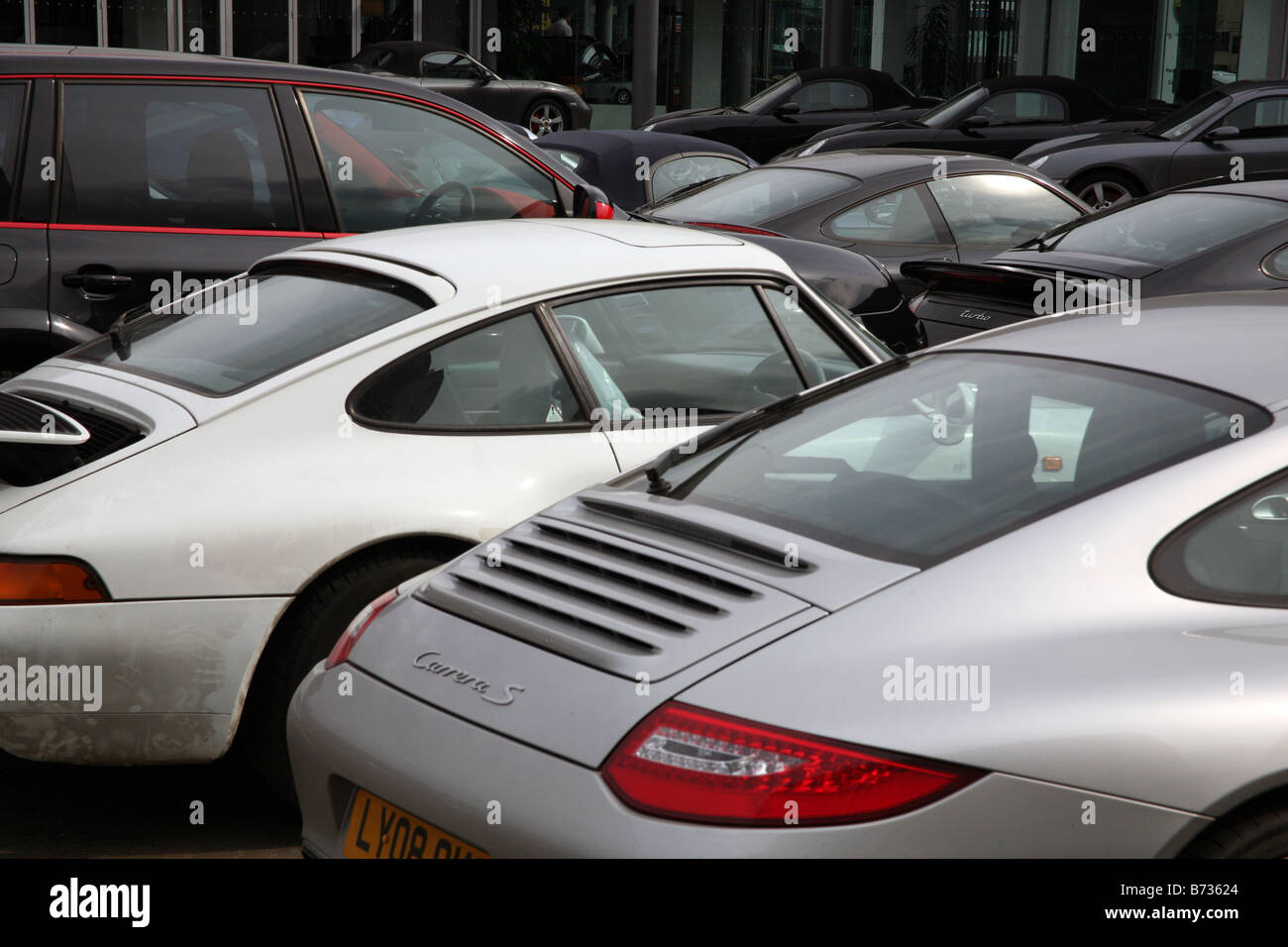 Porsche pictures of porsches : Credit crunch hits the City: unsold Porsches in East London ...