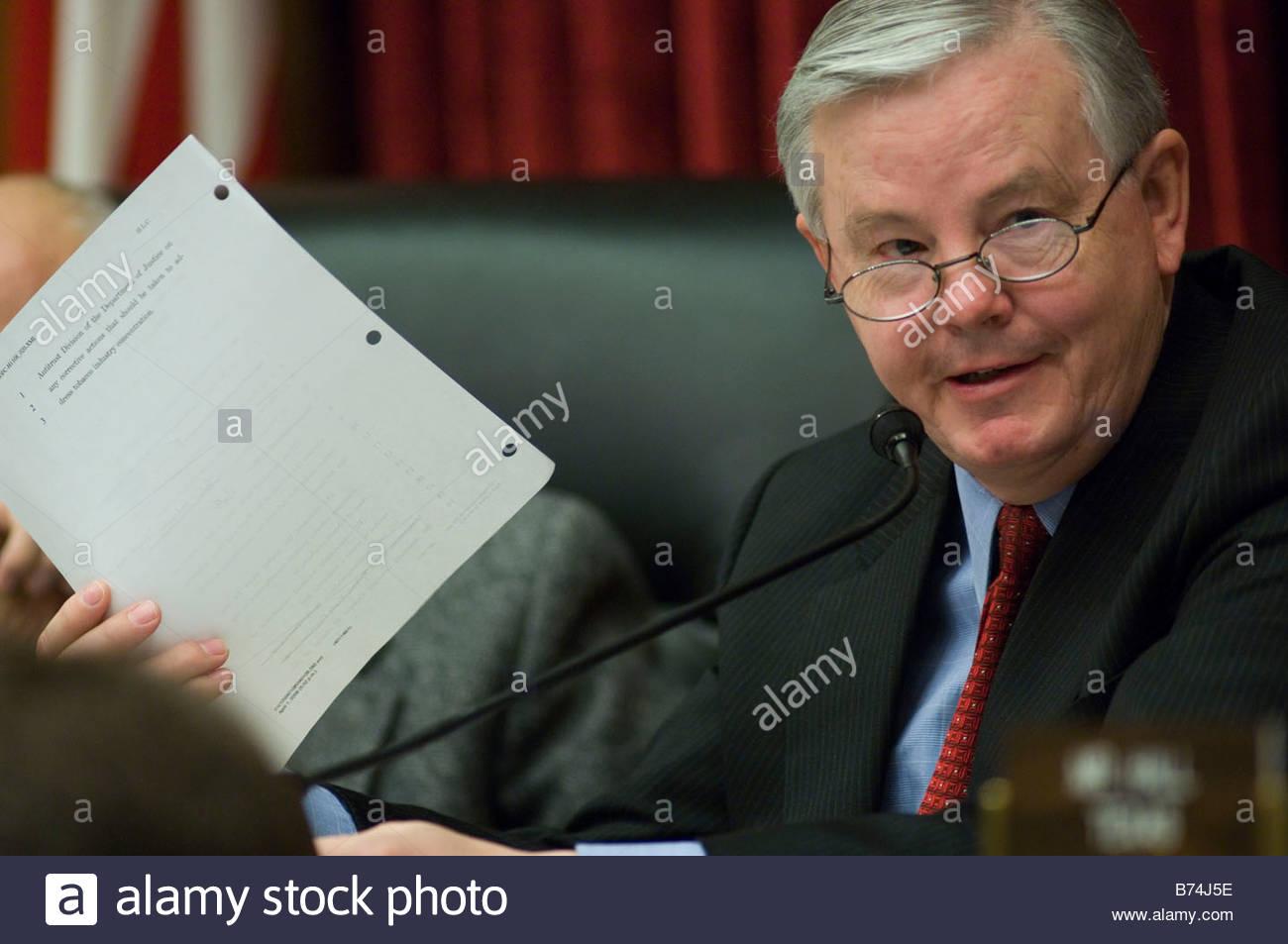 WASHINGTON DC April 02 Ranking Member Joe L Barton R Texas During The House  Energy Markup Of Tobacco Legislation House Energy Ch