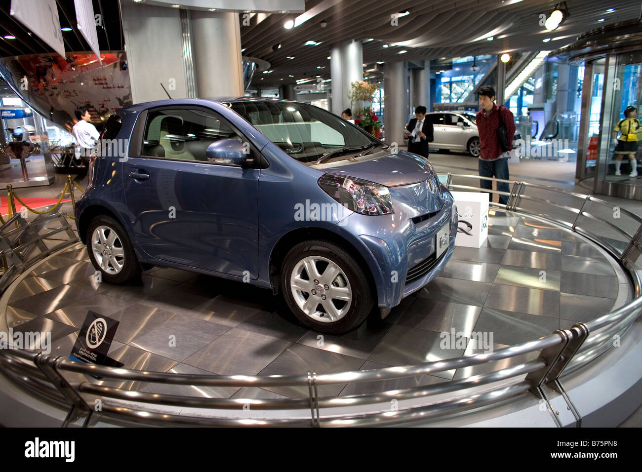 Stock photo toyota display hall in tokyo where the latest models are being shown