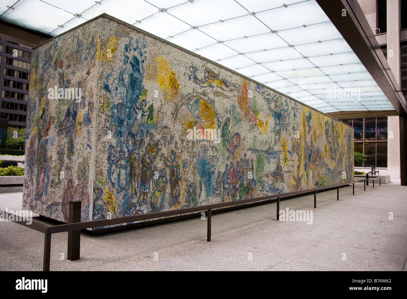 Marc chagall mural in downtown chicago il stock photo for Mural in chicago illinois