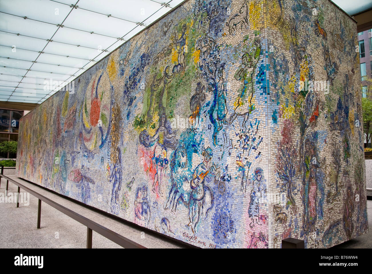 Marc Chagall Mural In Downtown Chicago Il Stock Photo