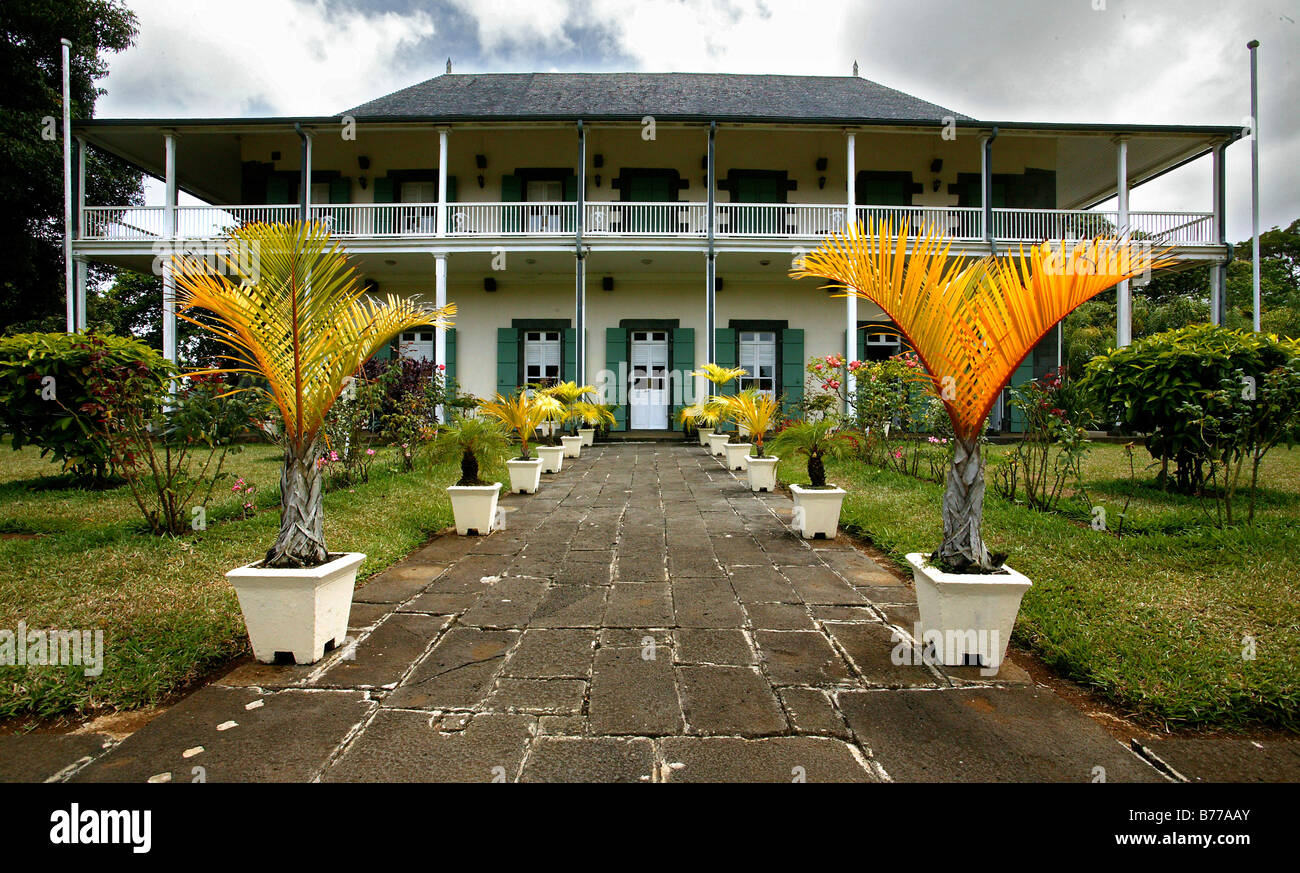 Colonial House, Historical House, Country House, The Royal Botanical Gardens  Of Pampelmousse, Mauritius, Indian Ocean, Africa