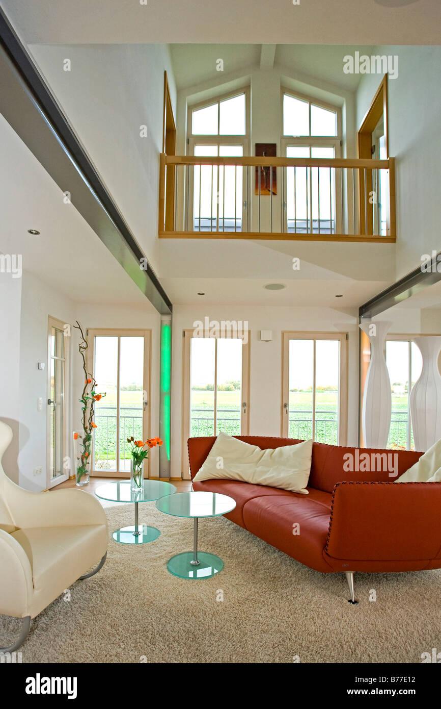 Modernes Wohnzimmer, modern living room Stock Photo, Royalty Free ...