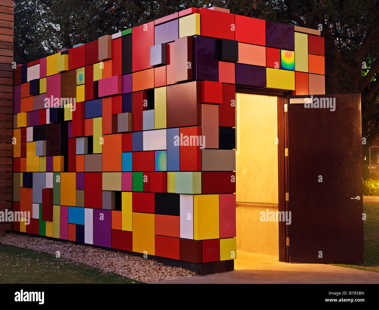 Design A Parking Garage Colorful Multi Colored Building Used As An Entrance For