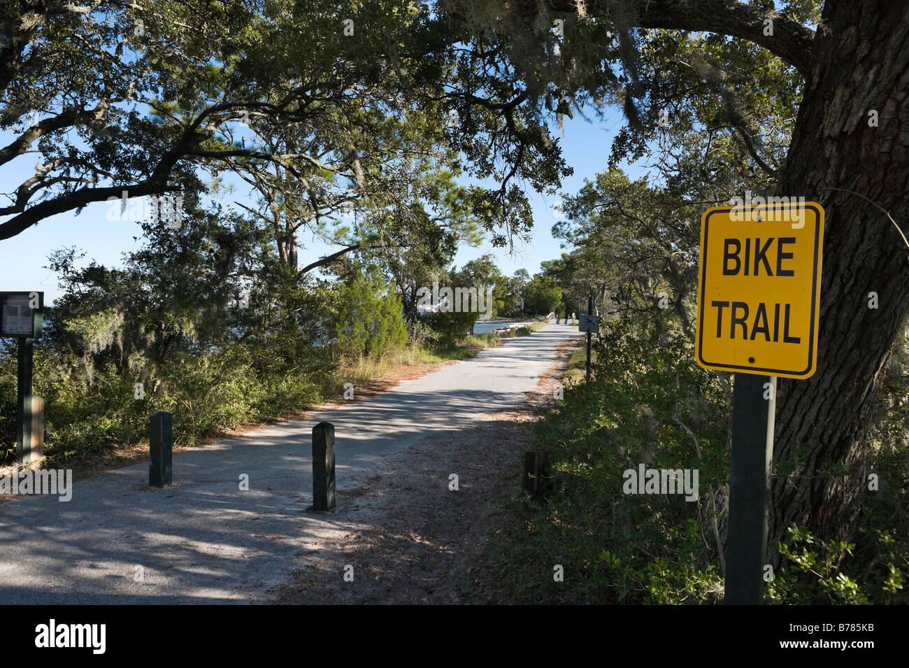 Bike And Walking Trail Near Driftwood Beach And Clam Creek Picnic