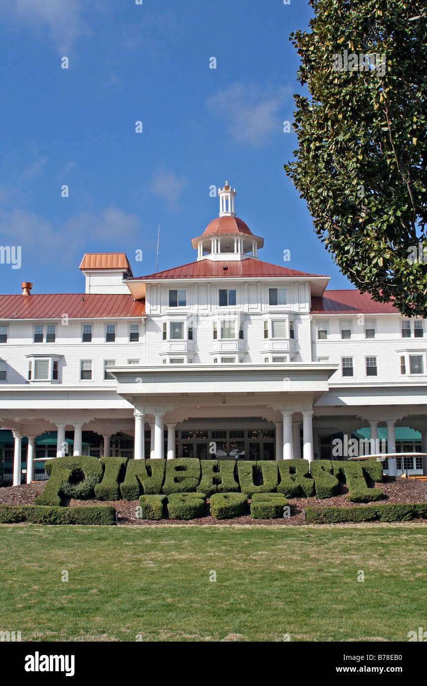 pinehurst hotel and resort north carolina stock photo, royalty
