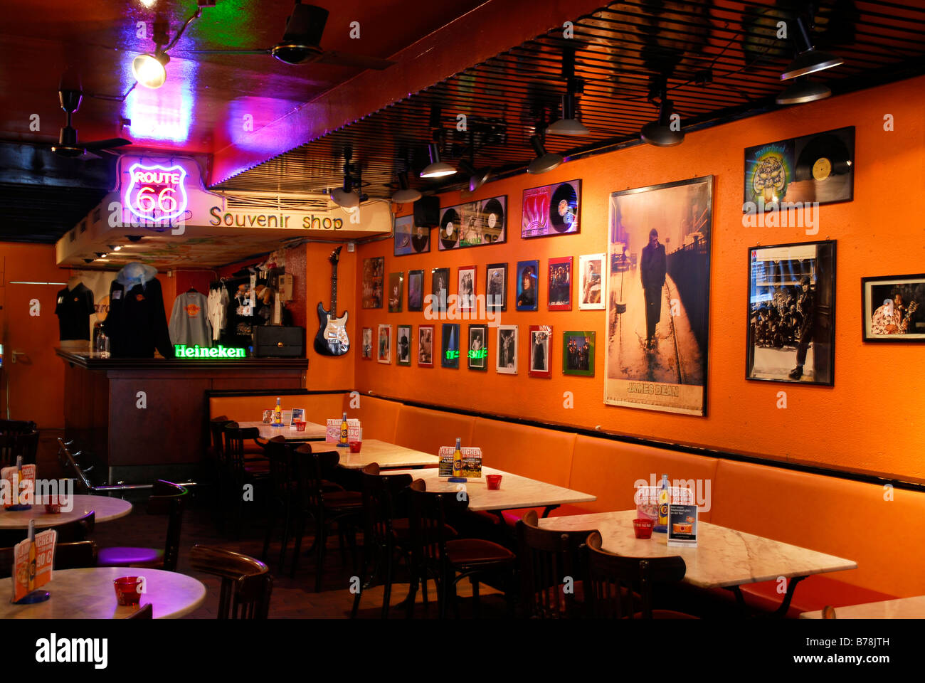 hard rock cafe interior decoration old city heidelberg neckar stock photo royalty free. Black Bedroom Furniture Sets. Home Design Ideas