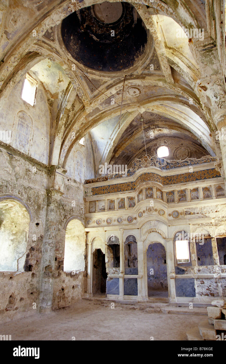 Interior of a Greek church, Ghost Town Museum Kayakoey ...