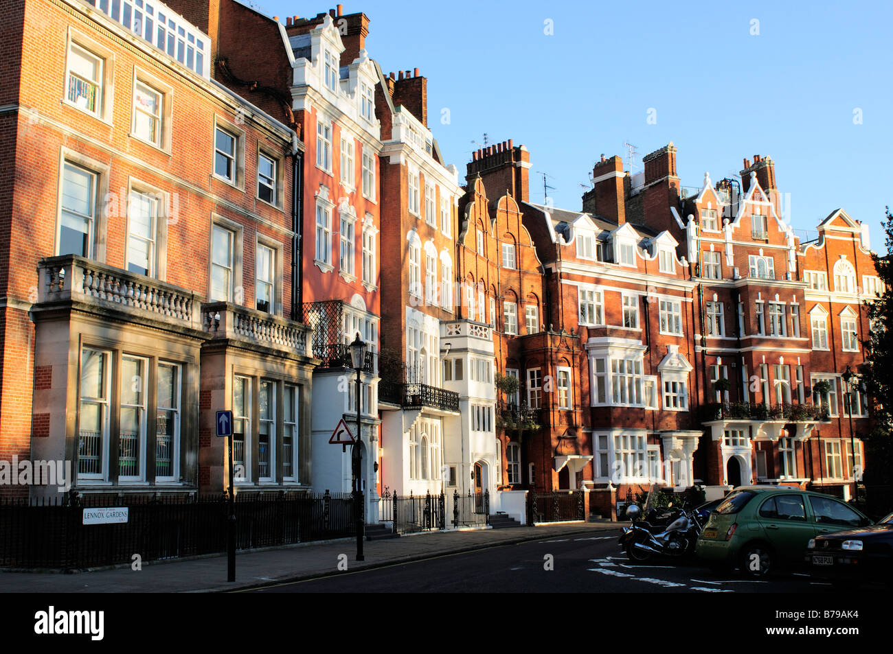 Red brick apartment blocks In Lennox Gardens Chelsea London SW3 UK ...