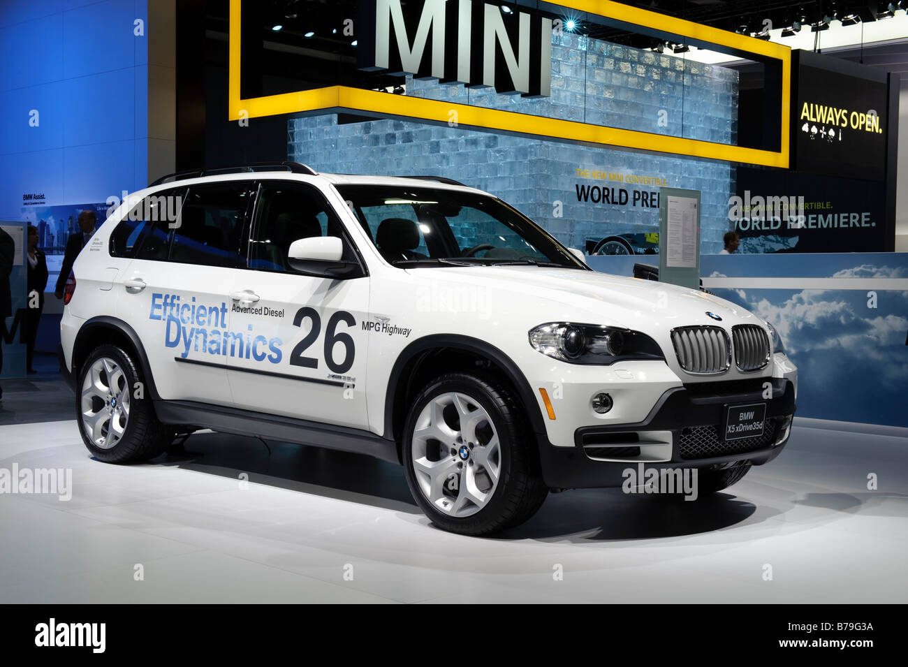 2009 bmw x5 xdrive 35d diesel suv at the 2009 north american stock