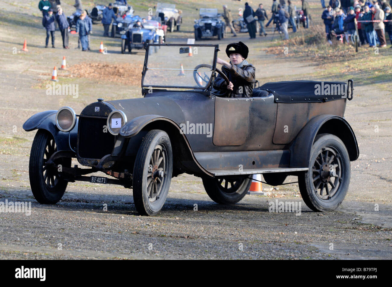 1918 Buick E 6E 49 VSCC New Year driving tests Brooklands January ...