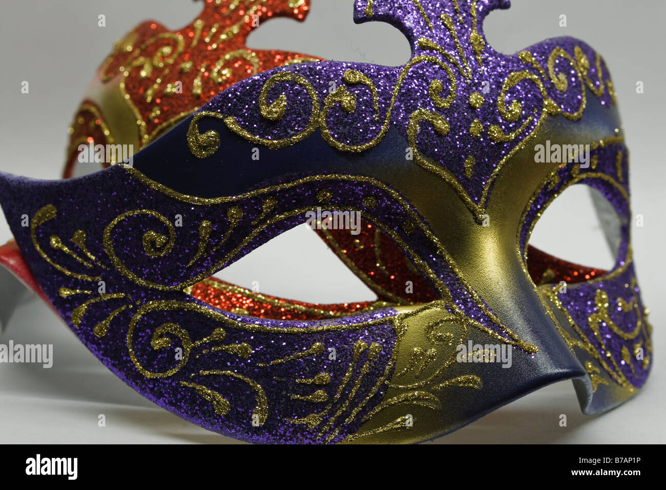 Decorative Masquerade Masks Two painted decorative masquerade masks Stock Photo Royalty Free 46