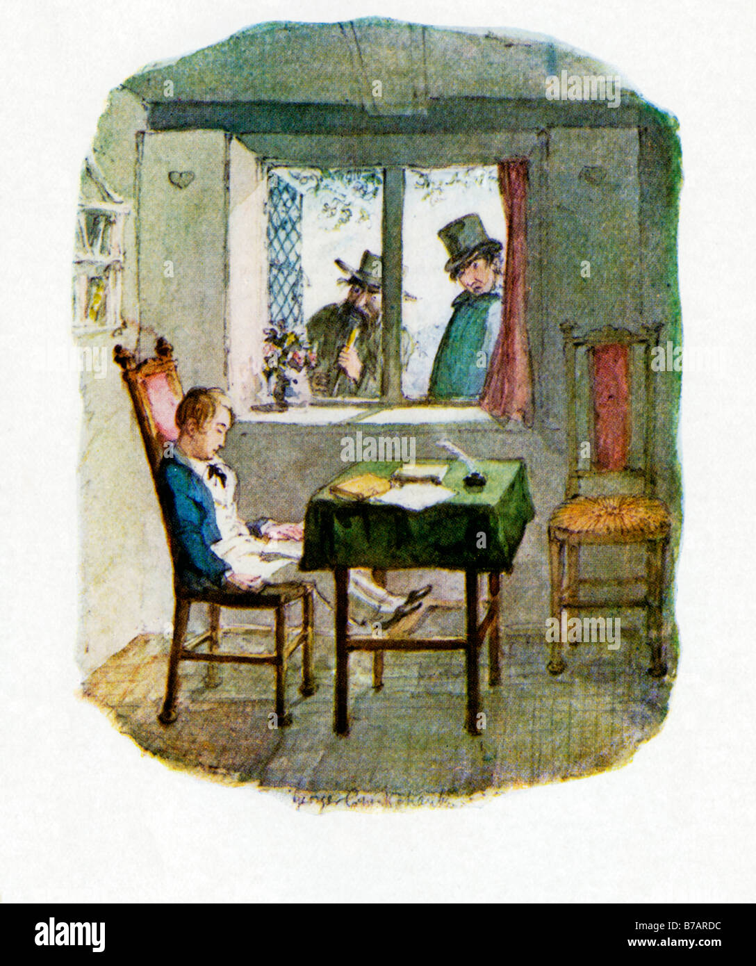fagin oliver twist stock photos fagin oliver twist stock images oliver twist reappearance of monks and fagin original illustration by george cruikshank for the dickens novel