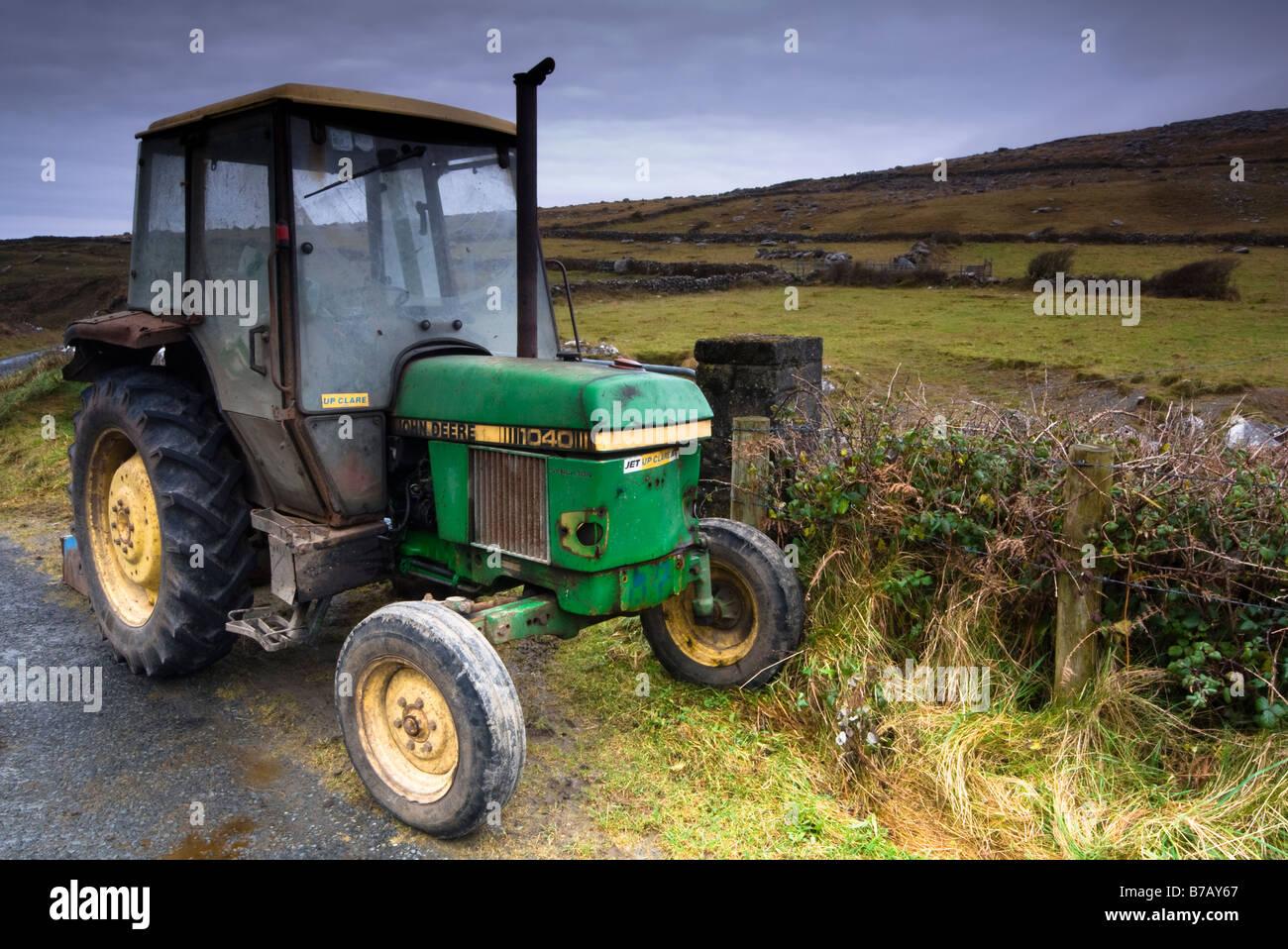 The Oldest John Deere : Old john deere tractor in fanore county clare