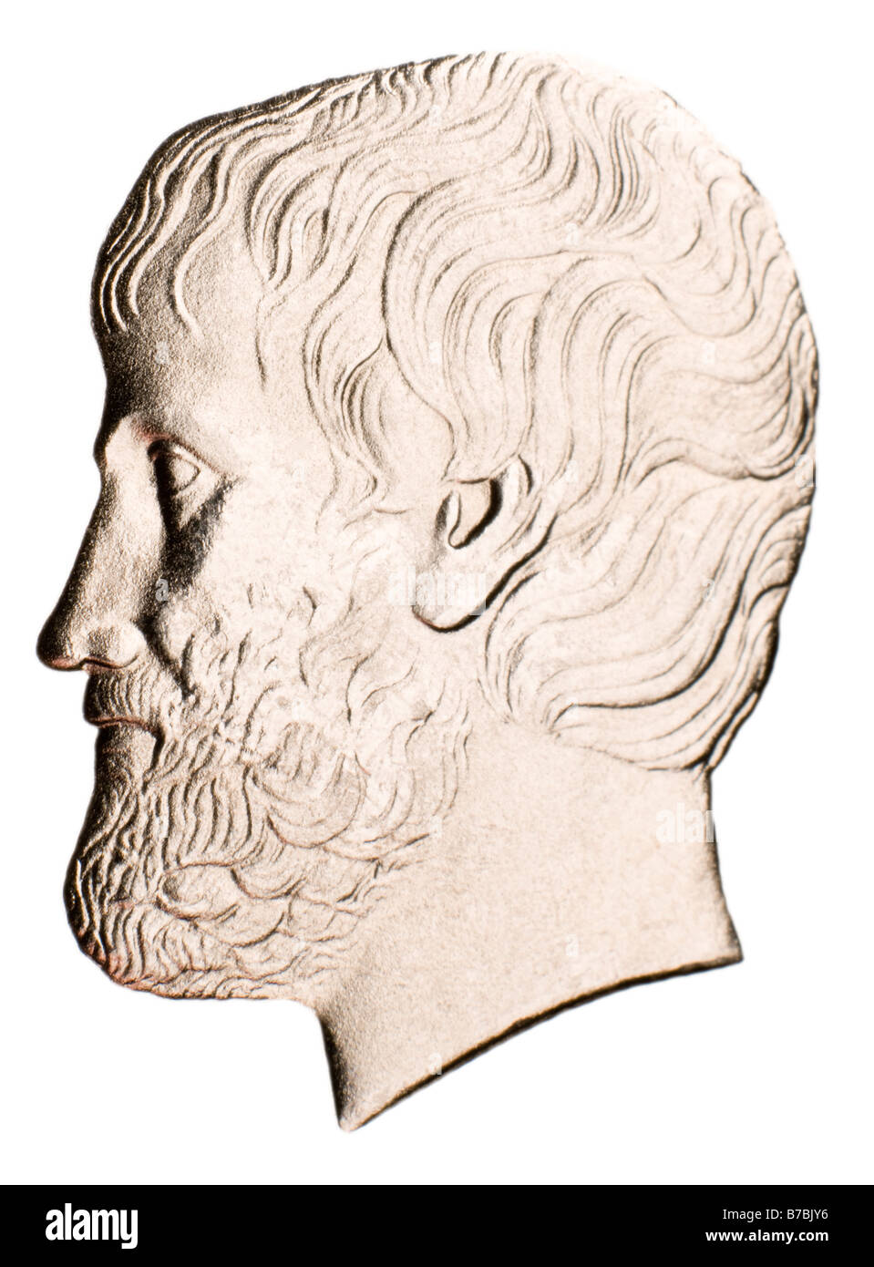 greek philosopher cut out stock images pictures alamy profile portrait of aristotle from greek 5 drachma coin of 2000 stock image