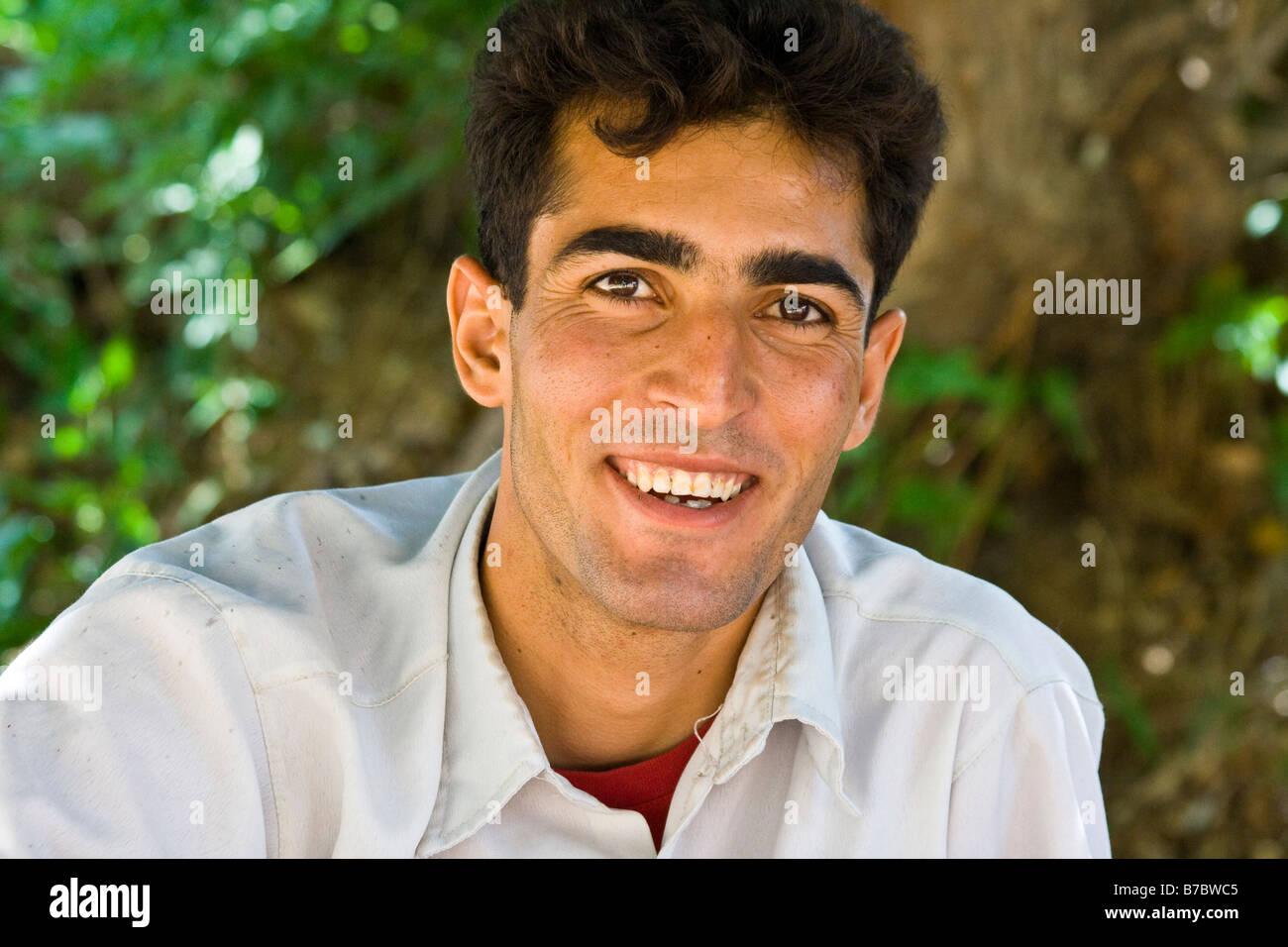 young iranian man in yazd iran stock photo royalty free