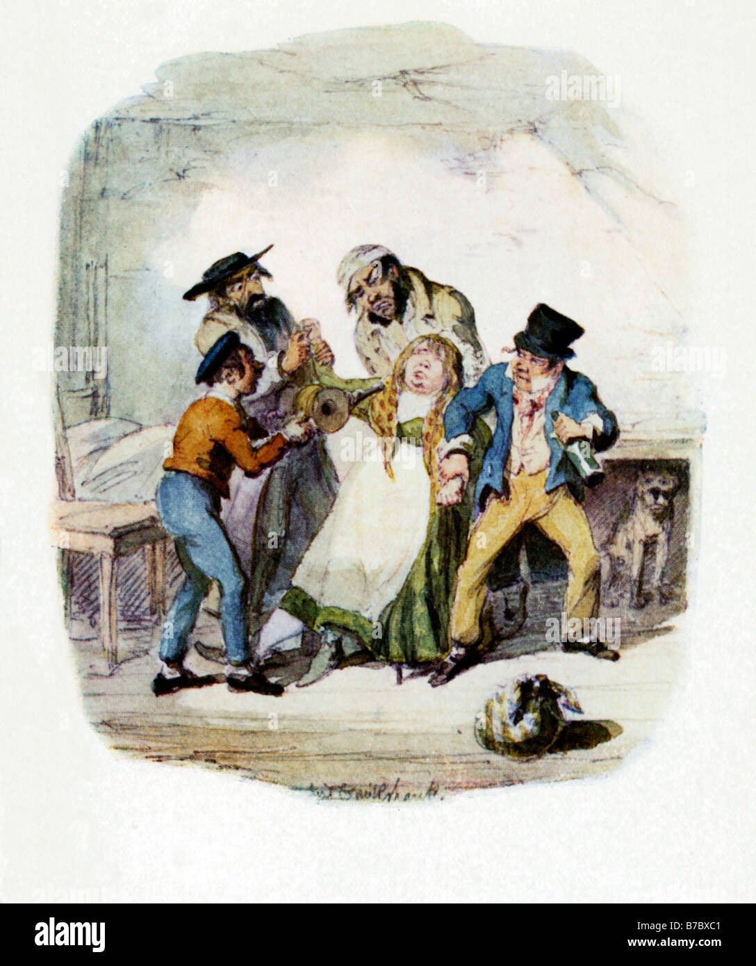 fagin oliver twist stock photos fagin oliver twist stock images oliver twist fagin and his boys recovering nancy original illustration by george cruikshank for the dickens